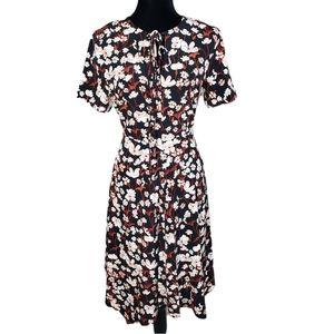 NWT Tommy Hilfiger Floral Black Summer Dress